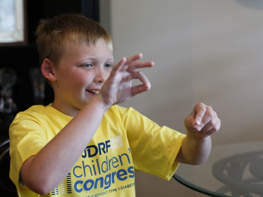 Crew Carlile, 9,was diagnosed with type 1 diabetes