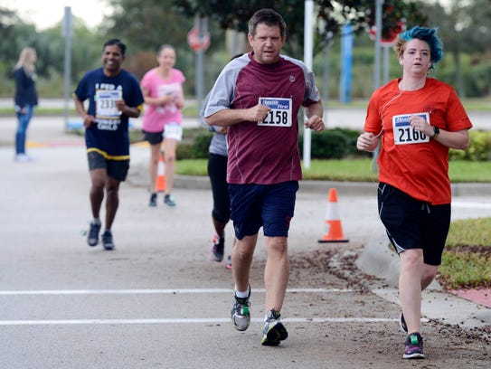 About 400 runners and walkers participated in the inaugural Health First Fight Child Hunger 5K Run/Walk in Viera in 2017. A bigger field is expected this year.