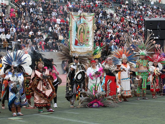 Thousands of faithful from the Archdiocese of Los Angeles attended the Our Lady of Guadalupe Procession and Mass at East L.A. College in Monterey Park on Dec. 6, 2015.