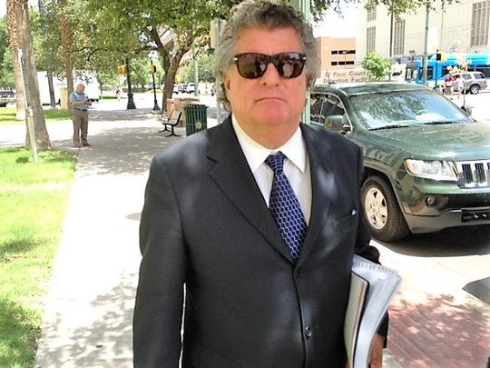 "William ""Billy"" Abraham leaves federal bankruptcy court in Downtown El Paso on July 24, 2018, after a hearing in his two controversial bankruptcy cases."