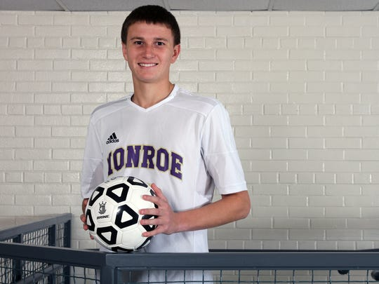 The Home News Tribune Boys Soccer Player of the Year is Alex Infosino of Monroe.