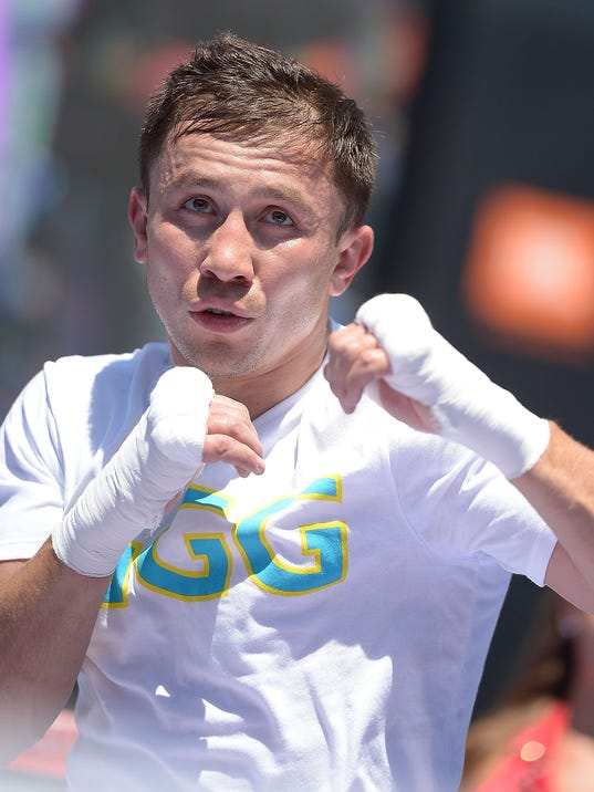 """Chivas Fight Club in the ring with Gennady """"GGG"""" Golovkin"""
