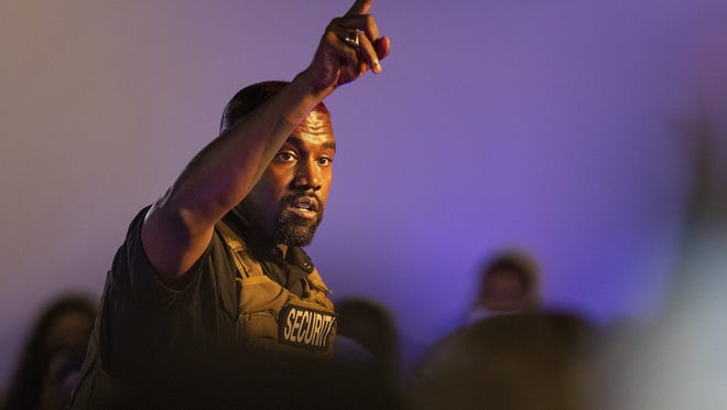 Kanye West makes his first presidential campaign appearance Sunday in North Charleston, S.C.