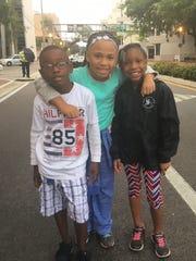 Christian Leath, Amira Peterson and  Jayden Davis,