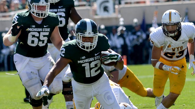 R.J. Shelton and the Spartans are ranked No. 10 in the Associated Press and USA Today Amway coaches polls.