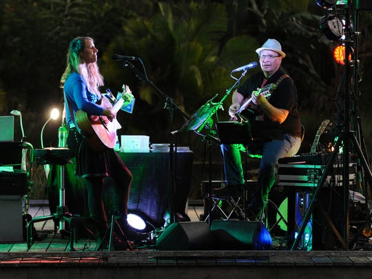 Terra Guitarra performed  throughout the evening during the annual Night Lights in the Garden at Naples Botanical Garden, Saturday Dec. 16, 2015.