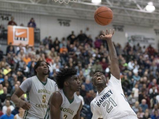 Ranney School vs Roselle Catholic Boys basketball in