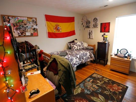 Brooke Dacquisto's room in her Drury University campus