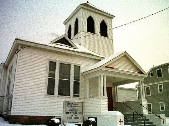 The Free Methodist Church on Elmwood Avenue in Burlington pictured here in 1998.