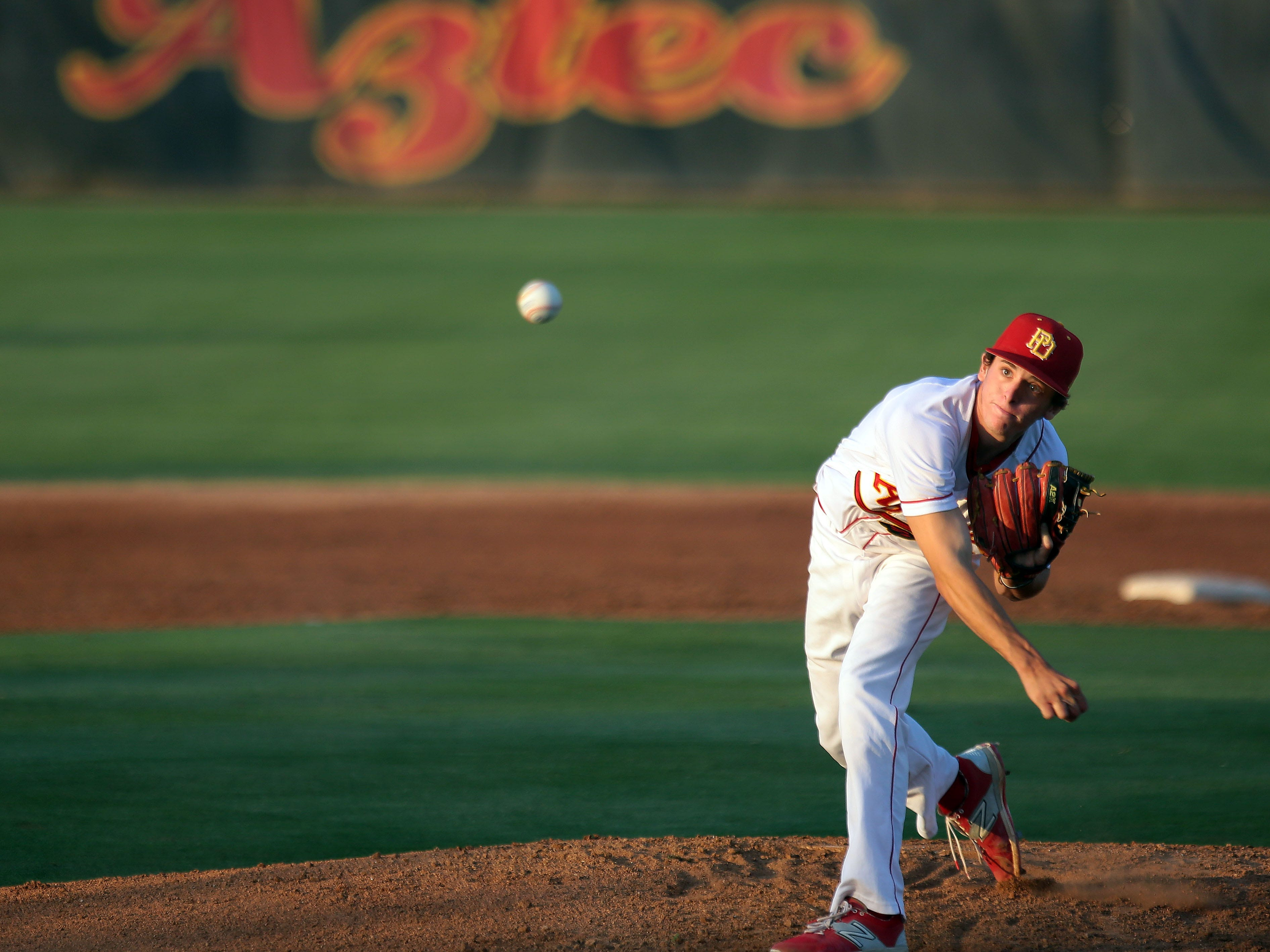 Palm Desert's Andrew Bash pitches against Indio on Tuesday in Palm Desert.