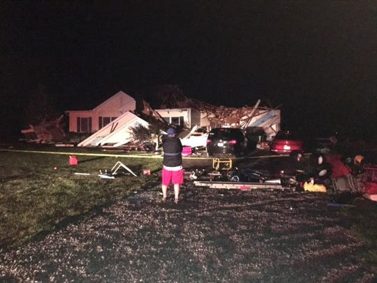 John and Susan Cooper of Hook Road lost the roof to their house Monday around 11:30 p.m. during a storm. Susan and daughter Alyse, 4, were thrown outside in the backyard. They were transported to OhioHealth Shelby Hospital and later released.