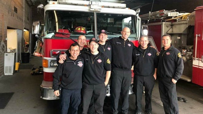 Lt. Juan Carlo Pacheco of Salamanca 127 fire station in Lima, Peru, far left, visited Salem in November and went on a ridealong with Salem firefighters at Station 4.