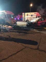 Two people were killed when a Chevy Impala struck pedestrians outside La Movida Night Club in Fairdale.
