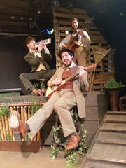"Clockwise from top, Joe Hoffmann, Austin Kiley and Andrew Simek star in ""A Year with Frog and Toad"" at Cider Mill Playhouse in Endicott."