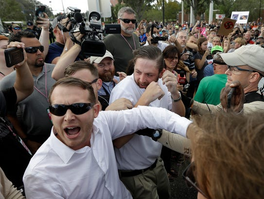 Two supporters of white nationalist Richard Spencer