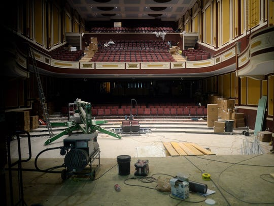 """The interior of the Flagstar Strand Theatre, which is still under construction. """"What we're doing is bringing back the luster and the glory of the building, and reconfiguring the seating to be 900 seats because we're going to be what they call in the business a touring roadhouse,"""" says Bill Lee, president and CEO."""