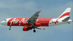 AirAsia Airbus A320-200, tail number PK-AXC is photographed