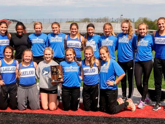 The Lakeland girls track and field team captured its
