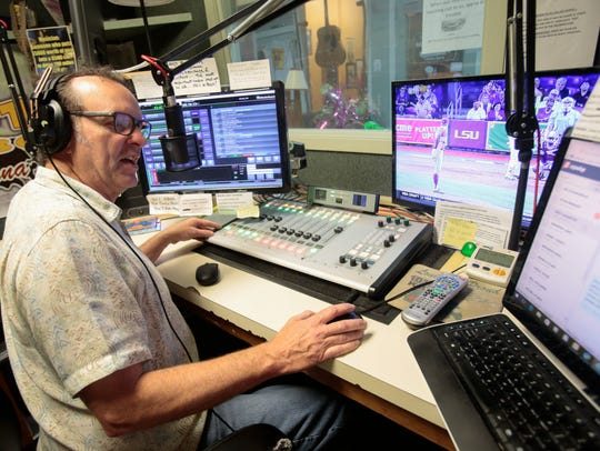 Todd Ortego DJs the Swamp N Roll radio show at KBON