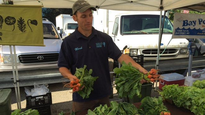 Mark Nowak, owner of Seeley Farm in Ann Arbor, specializes in organic produce.