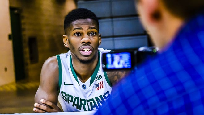 Former Lawrence North product Eron Harris, who transferred from West Virginia, has been suspended from Michigan State's team.