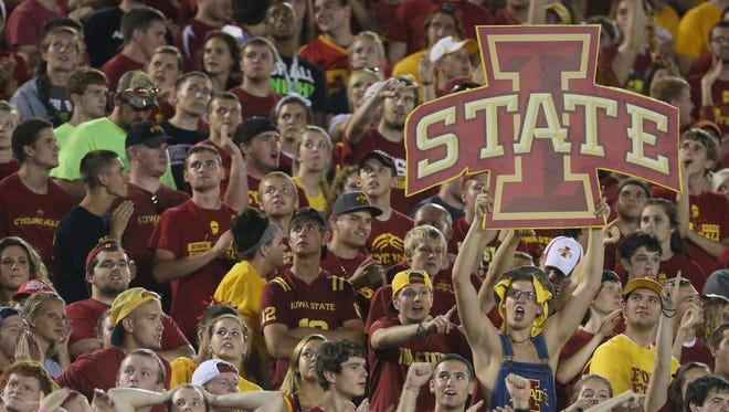Iowa State fans cheer on the Cyclones last season against Texas.