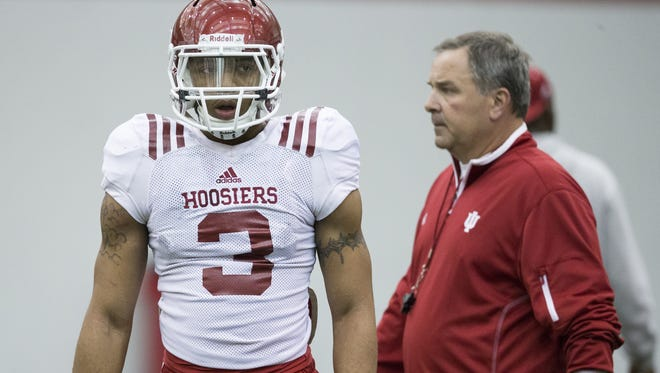 IU receiver Dominique Booth (left) will take a medical hardship waiver.