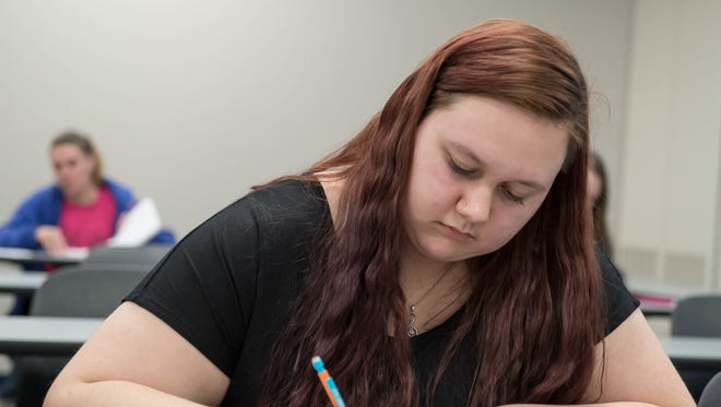 Eleventh grader Mariah VanZandt is a participant in Marshall Public Schools' early college program, which allows her to take a guided course of college classes while still in high school.