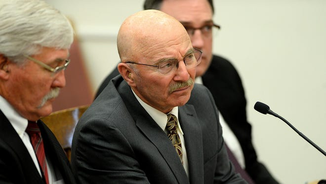 Joseph Campbell answers questions from District Court Judge DeAnn Cooney about his change of plea in 2016  in the Lewis and Clark County Courthouse.
