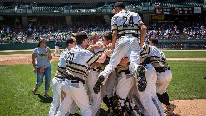 Daleville defeated Lanesville in their state championship game at Victory Field Saturday, June 18, 2016.