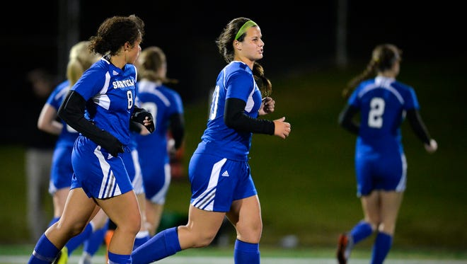 Sartell's Brooke Walters (20) is the St. Cloud Times Girls Soccer Player of the Year for the second straight year.