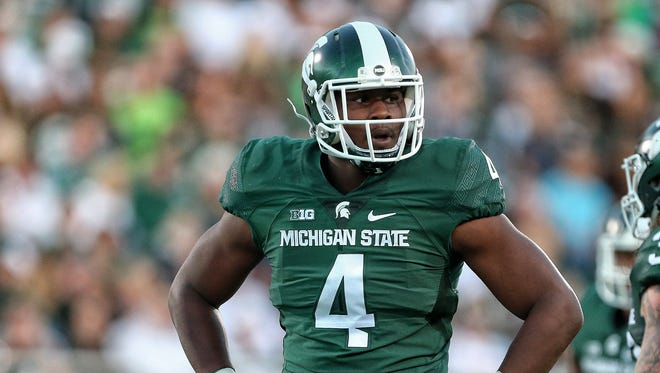 Malik McDowell, who was ejected after being flagged for a targeting personal foul call on Indiana QB Richard Lagow Saturday, will have to watch the first half in the locker room before being allowed to play after halftime.