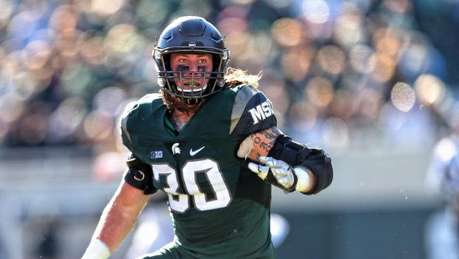 Michigan State linebacker Riley Bullough.