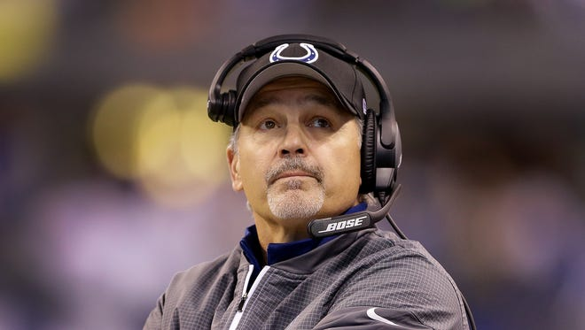 Chuck Pagano and the Colts are in danger of missing the playoffs for a second straight season.