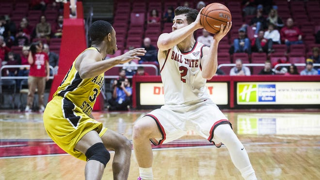 FILE -- Ball State defeated Alabama State 73-48 at Worthen Arena Dec. 22.