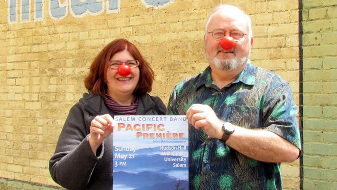 Toni and John Skelton were promoting Red Nose Day with the Salem Concert Band, which is coming up Sunday, May 21.