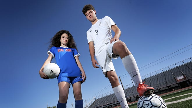 The El Paso Times All City MVPs for soccer are Bel Air's Nicole Cohen and Jorge Romero of Del Valle.