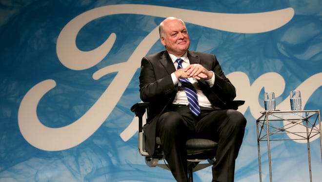 Ford Motor Company announces the new President and CEO, Jim Hackett, on Monday, May 22, 2017 at the Ford Motor Company World Headquarters in Dearborn.
