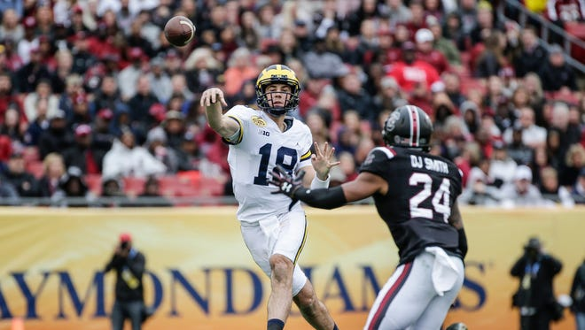 Brandon Peters was not sharp against South Carolina in the Outback Bowl on Monday, but he was far from the only one.