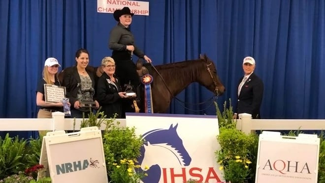 UW-River Falls student Danielle Paulson was named National Champion in Team Reining at the IHSA National Championships May 3-6 in Harrisburg, Pa.