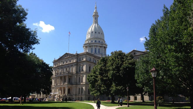 The Michigan Capitol building in Lansing.
