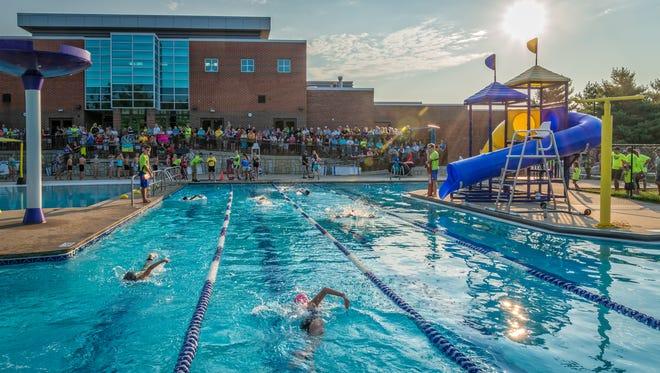 The Sumner County YMCA hosts the Hendersonville Endurance Athletic Team Kids Triathlon.