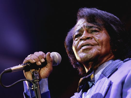 Singer James Brown performs in London on July 4, 2006.