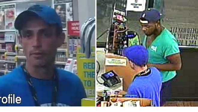Police seek identifications of two men accused of using stolen credit card