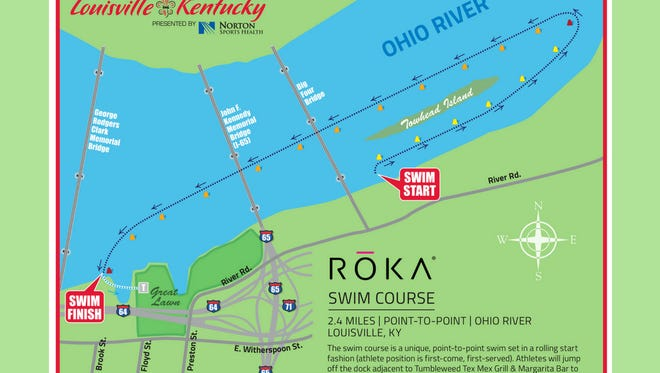 The 2.4-mile swim course is set in a rolling start fashion (athlete position is first-come, first-serve), according to the Ironman media guide. Athletes will jump off the dock adjacent to the former Doc's Cantina and finishes at the wharf just west of the Great Lawn.