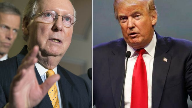 Mitch McConnel and Donald Trump.