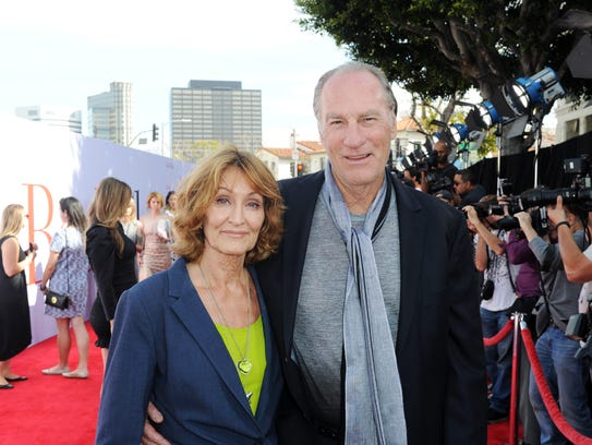 Craig T. Nelson and his wife, Doria Cook-Nelson, attend