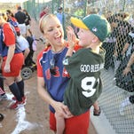 The Miracle League of Visalia organizers, from left, Randy Foster and Jennifer and Gary Geiger, pictured in 1999.