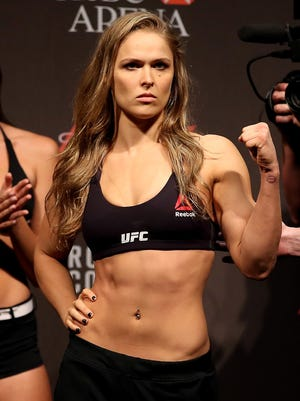 Ronda Rousey typically weighs 150 pounds but has to get down to 135 pounds for her fights.