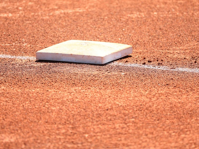 First base on Apr. 20, 2018 at Cactus High School in